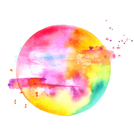 An abstract artistic colorful watercolor background texture with paint splashes, a vector drawing with a place for text .