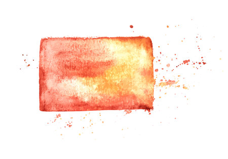 An abstract artistic brown watercolor background texture, scalable vector frame with a place for text