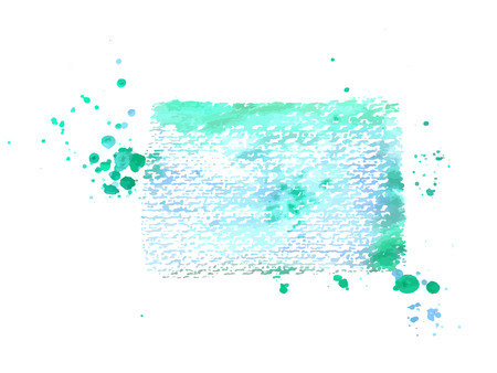 An abstract artistic vibrant teal blue watercolor background texture, scalable vector frame with a place for text