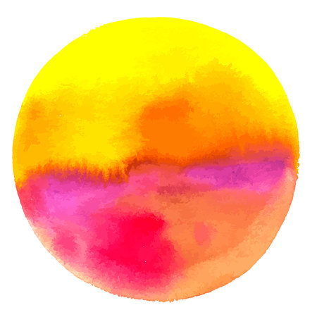 An abstract artistic yellow and red colorful watercolor background texture, vibrant vector drawing with a place for text