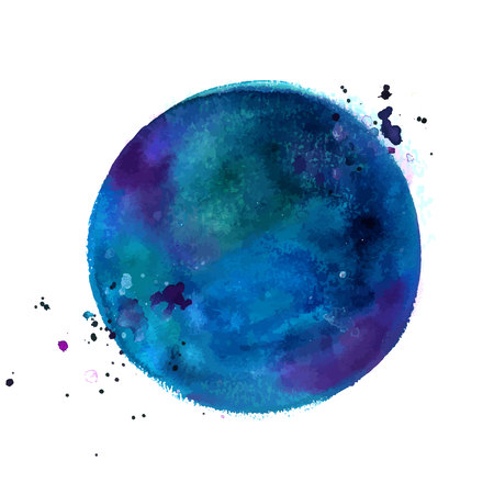 An abstract artistic vibrant dark blue watercolor background texture, vector drawing with a place for text 向量圖像