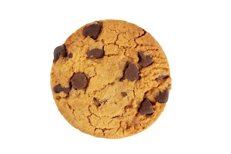 Chocolate chip cookie, gluten free, isolated on a white background with a clipping path