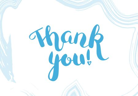 Thank You vector card with lettering and watercolor brush strokes 向量圖像
