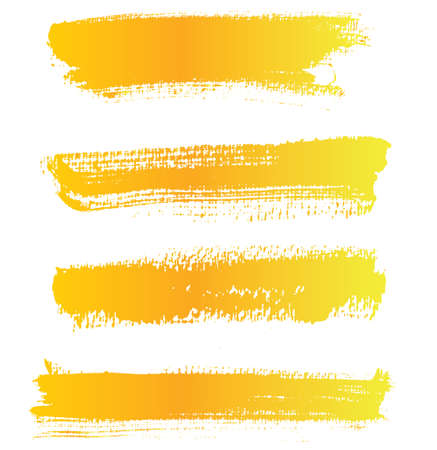 Vector paint brushstrokes, watercolor texture, isolated on a white background, a design element to highlight text