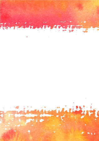 Vector abstract watercolor background with gradient brushstrokes in autumn colors and a place for text