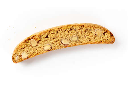 Biscotti. Traditional Italian almond cookie, overhead shot