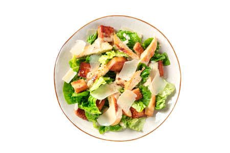 Caesar salad with grilled chicken, green lettuce and Parmesan Reklamní fotografie