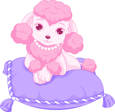 repose: Pink poodle Illustration