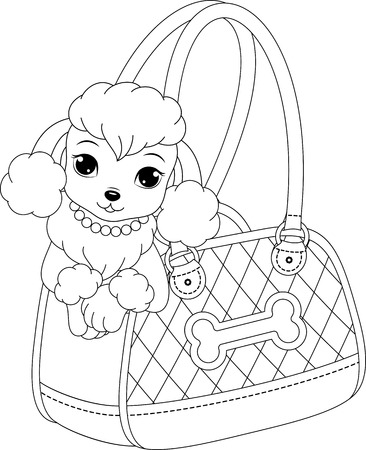 repose: poodle coloring page