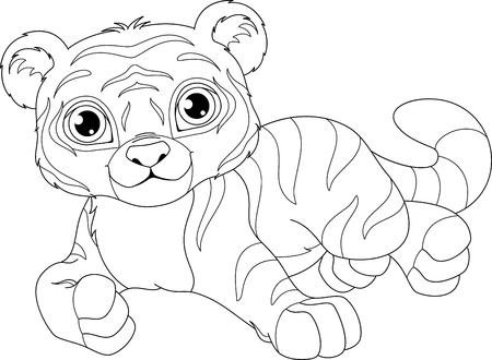 Teddy Bear Para Colorear La Página Ilustraciones Vectoriales