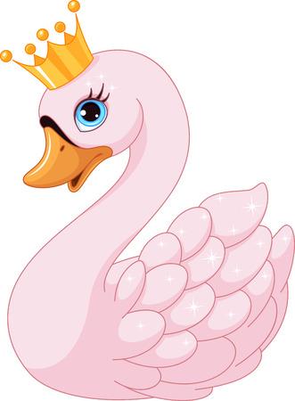 Schwan-Prinzessin Standard-Bild - 64647277
