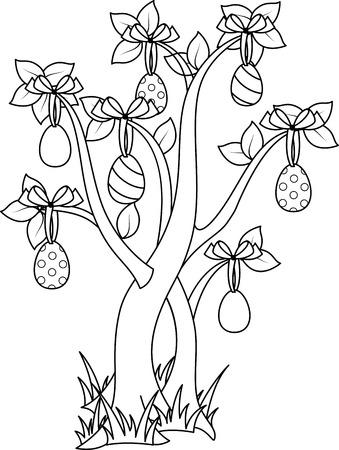 arbol de pascua: Árbol de Pascua para colorear