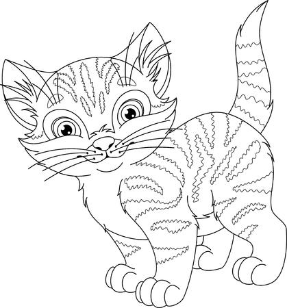 Página Para Colorear De Los Sueños Del Gato Ilustraciones ...