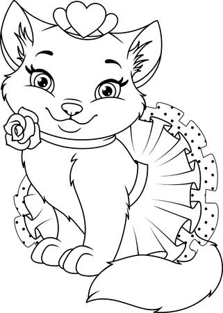 Princesa En El Columpio, Página Para Colorear Ilustraciones ...