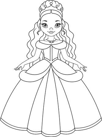 Princesa Del Invierno Para Colorear La Página Ilustraciones ...
