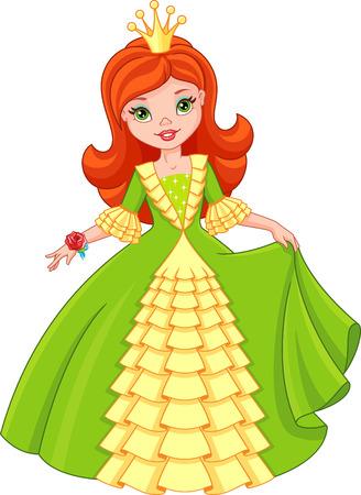 Little princess Vektorové ilustrace
