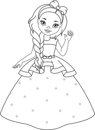Little Princess Coloring Page Banque d'images - 74156289