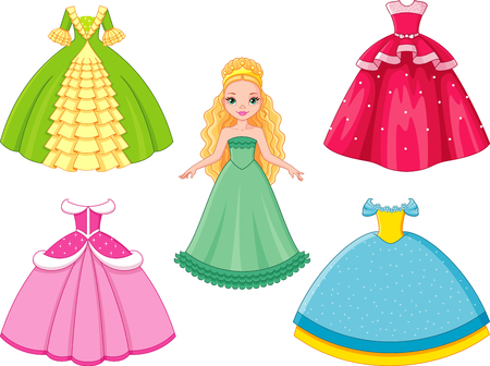 Beautiful doll princess with dress set