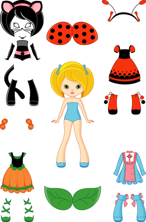 Paper doll clothes for Halloween