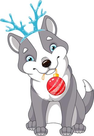 christmas dog Stock Vector - 90136476