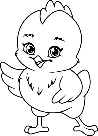 Chicken Coloring Page