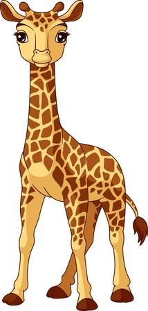 Girafe vecteur de bébé illustration Banque d'images - 104024070