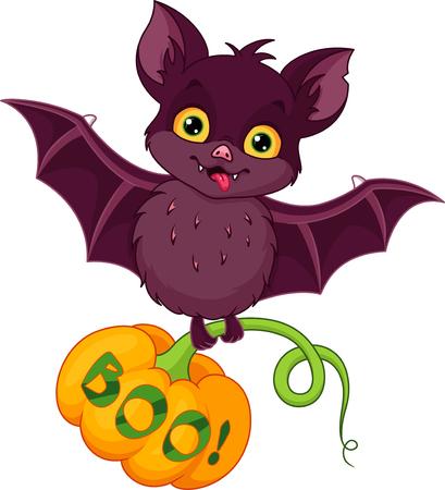 Bat with pumpkin for Halloween Banque d'images - 115415837