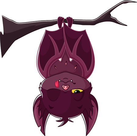 Cartoon Sleeping Bat Banque d'images - 115415840