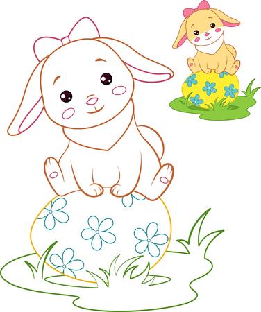 Colored rabbit Banque d'images - 123564938