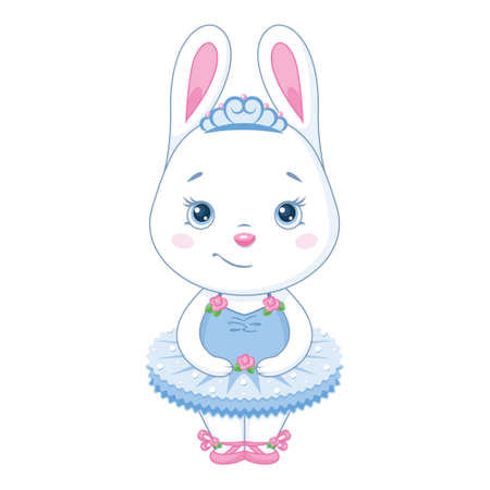 Bunny ballerina in blue dress
