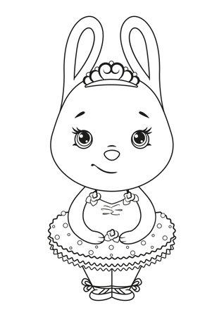 Bunny Ballerina coloring page