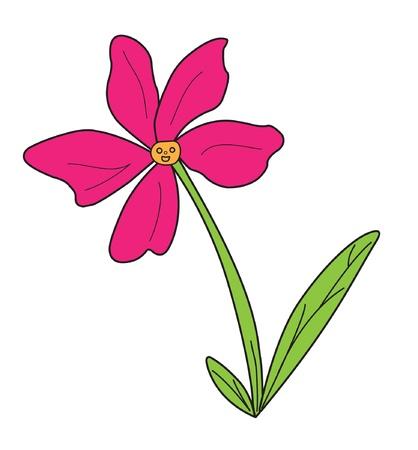 Surpreso com a flor