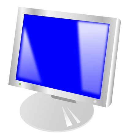 The computer rectangular monitor realistic