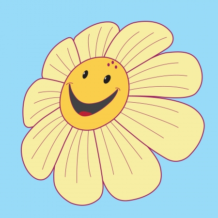 camomiles: Daisy with a smile and black eyes