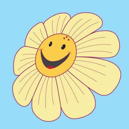 Margarida com um sorriso e olhos negros