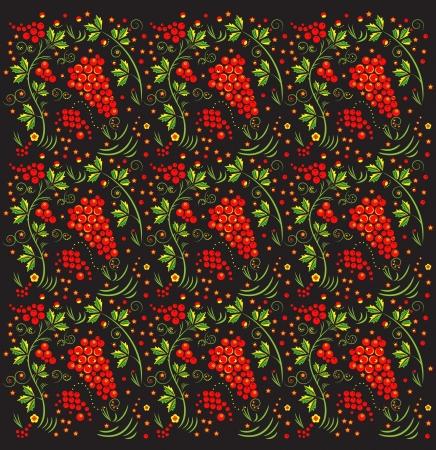 Russian Khokhloma pattern