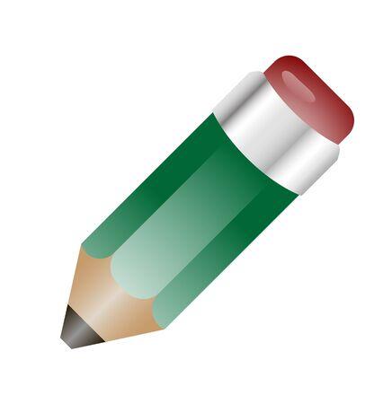 Ilustração de lápis realístico com apagador Ilustração