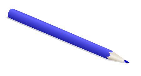 The blue pencil  Stock Vector - 17139453