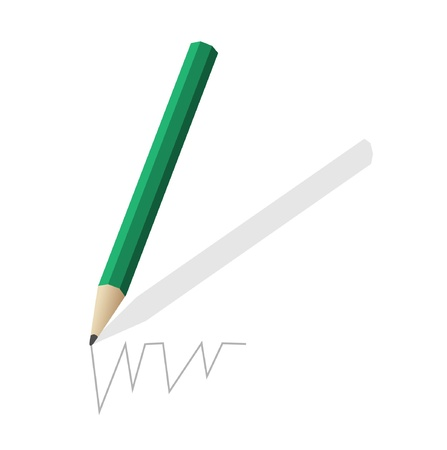 The pencil green