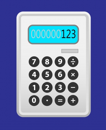Cinza calculadora.