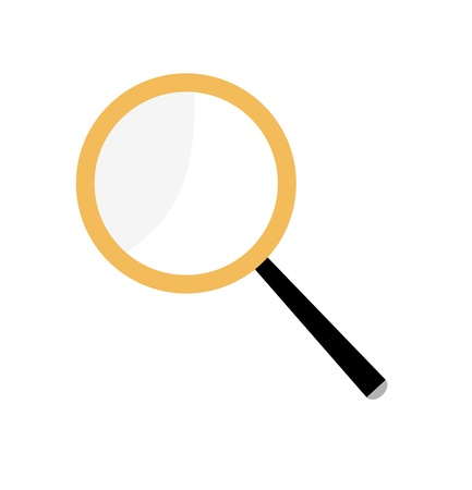 Magnifier. Magnifying glass on a white background. Illustration