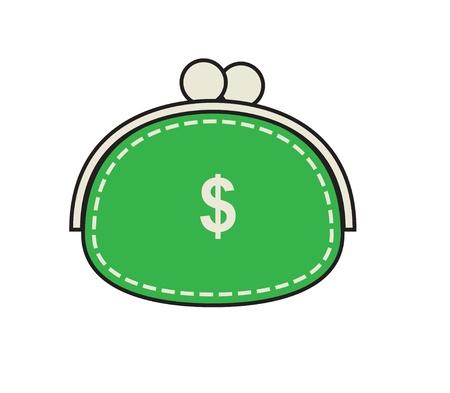 Bolsa verde original sobre um fundo branco.
