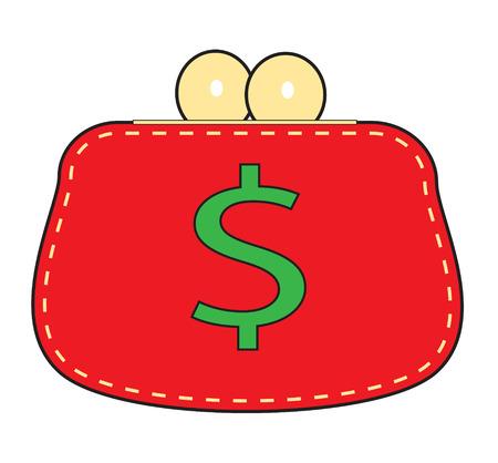 Bolsa vermelha simples sobre um fundo branco.