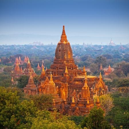 birma: tempels in Bagan, Myanmar