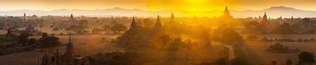 Sunset over temples of Bagan in Myanmar  Stock Photo - 17706917