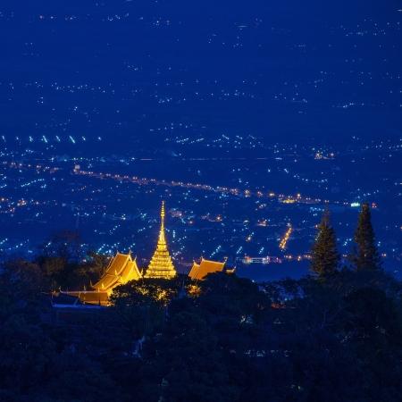 doi: Doi Suthep pagoda, Chiang Mai, Thailandia Archivio Fotografico