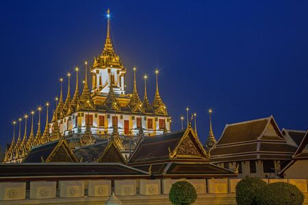Wat Ratchanaddaram and Loha Prasat Metal Palace in Bangkok ,Thailand  photo