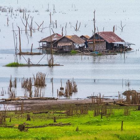 floating village in Kanchanaburi Province, Thailand photo