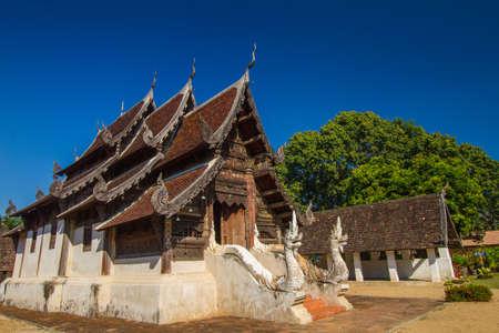 Wat Ton Kwain, Chiangmai, Thailand  It is the true Lanna architecture style  photo