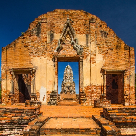 Wat Rat Burana ancient Ayutthaya period Thailand photo